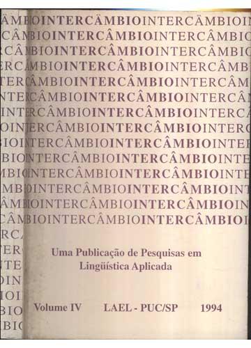 Uma Publicação de Pesquisas em Lingüística Aplicada - Volume IV - LAEL-PUC/SP - 1994