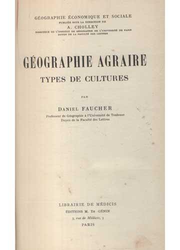 Géographie Agraire - Types de Cultures