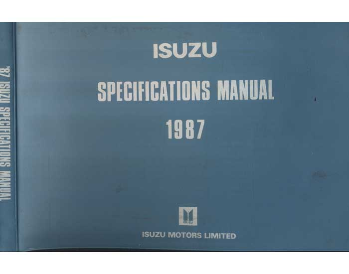 87 ISUZU Specifications Manual