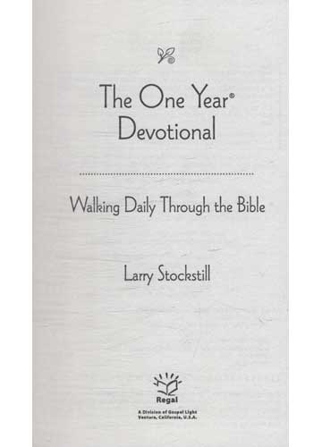 The One Year Devotional