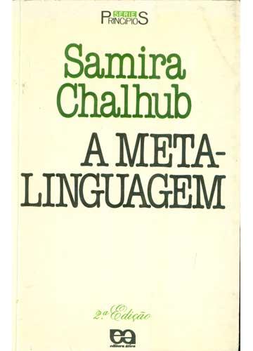 Livro - A Meta-Linguagem - Sebo do Messias