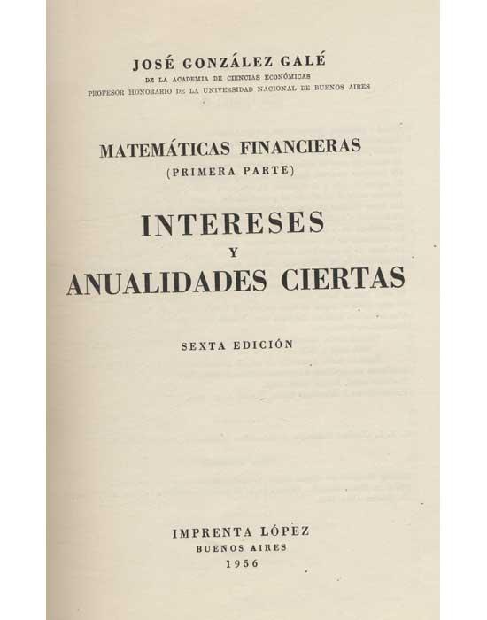 Matemáticas Financieras - 2 Volumes