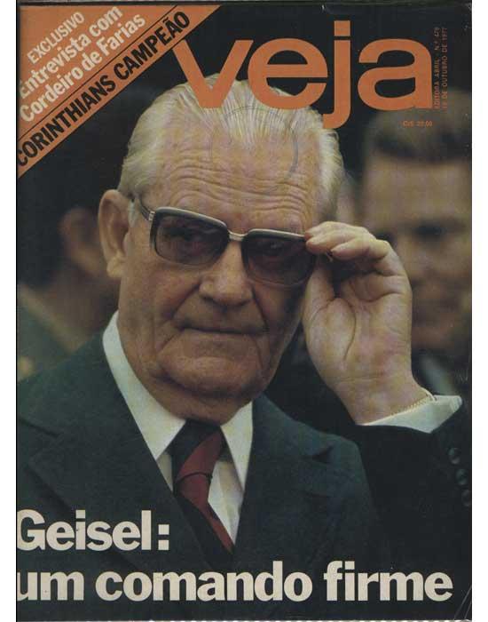 Veja - Ano 1977 - Nº.476 - Geisel - Um Comando Firme