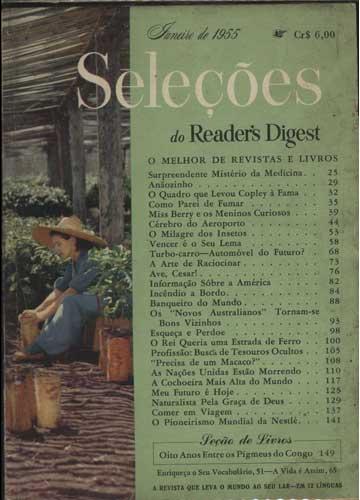 Seleções do Reader's Digest - Ano 1955 - Janeiro - Nº.156 - Tomo XXVII