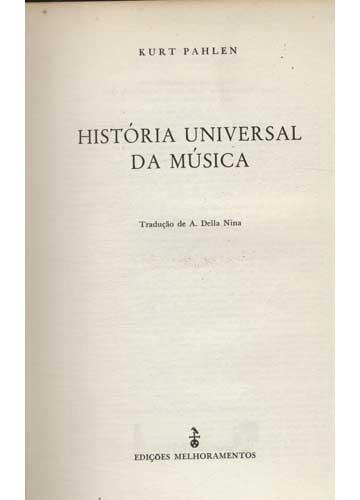 História Universal da Música