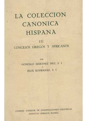 La Coleccion Canonica Hispana - Volume III