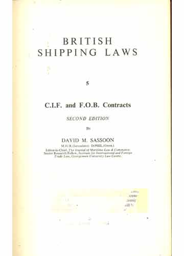 CIF and FOB Contracts - Volume 5