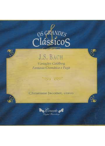J. S. Bach - Variações Goldberg / Fantasia Cromática e Fuga - Christiane Jacottet *importado*
