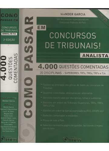 Como Passar em Concursos de Tribunais - Analista