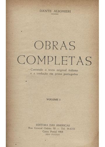 Dante Alighieri - Obras Completas - Volume 1