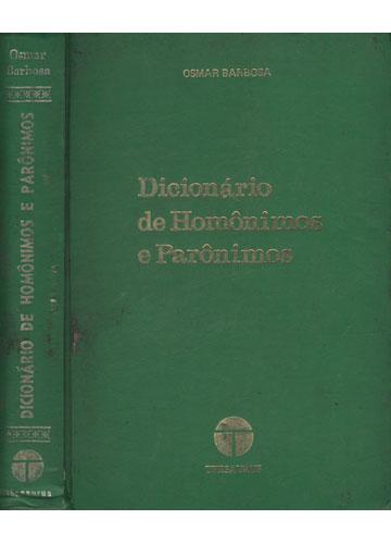 Dicionário de Homônimos e Parônimos