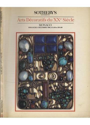 Sotheby's - Monaco - Arts Décoratifs du XXe Siècle - 4 Decembre 1988