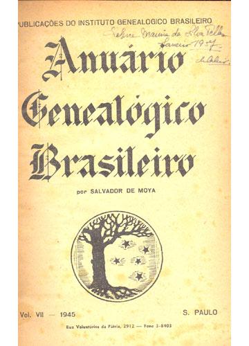 Anuário Genealógico Brasileiro - Volume VII