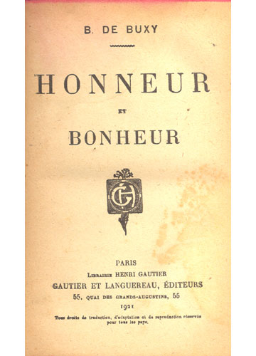 Honneur et Bonheur