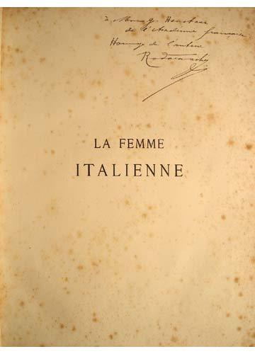 La Femme Italienne - Com Dedicatória