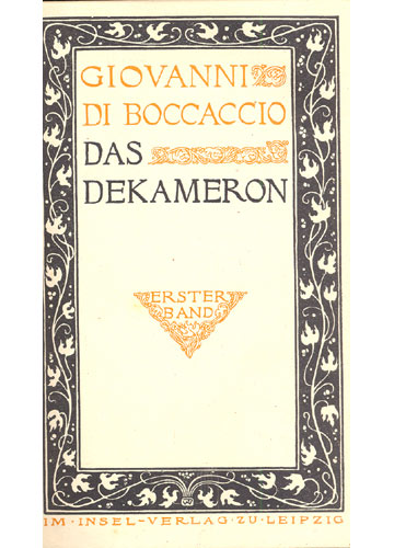 Das Dekameron - 3 Volumes