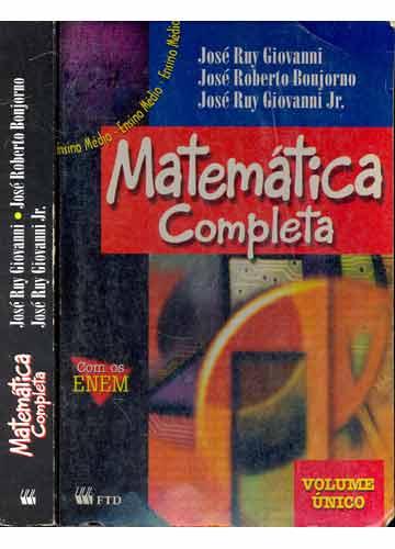 livro de matematica bonjorno