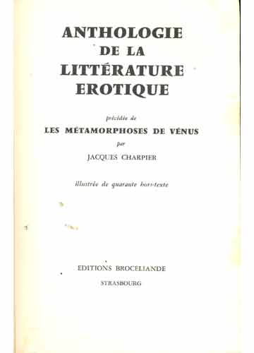Anthologie de la Littérature Erótique