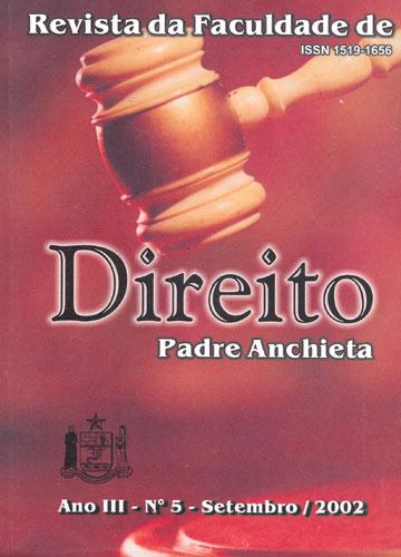 Revista da Faculdade de Direito Padre Anchieta- Ano III - N° 5 - Setembro/2002