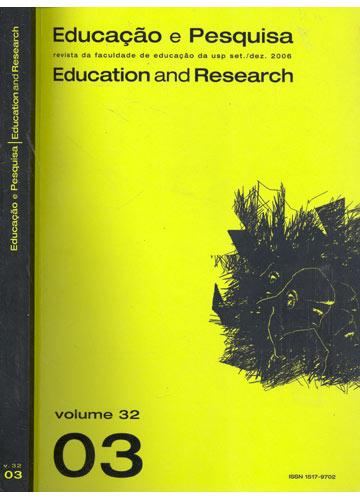 Educação e Pesquisa - Education and Research - Volume 31 - Número 3