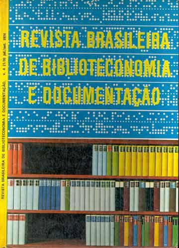 Revista Brasileira de Biblioteconomia e Documentação - volume 4 - 1974