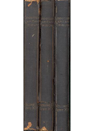 Condottieri Capitan Tribuni - Enciclopedia Biografica e Bibliografica Italiana - 3 Volumes