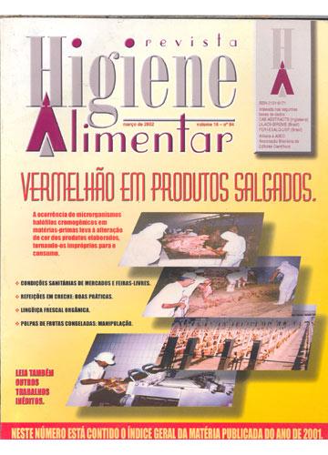 Higiene Alimentar - Ano 2002 - N°.94 - Volume 16