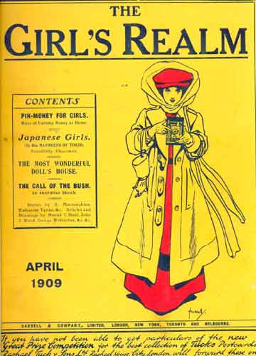 The Girl's Realm - 3 revistas em 1 volume - April / May / June - 1909