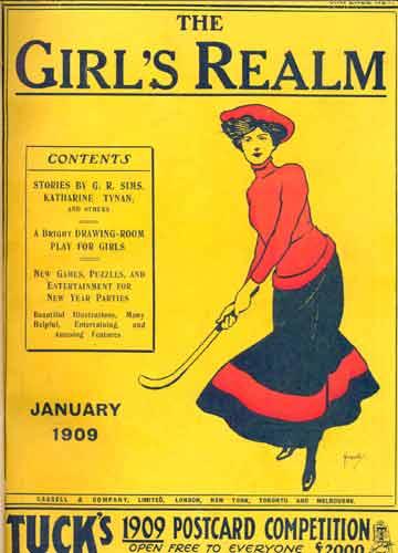 The Girl's Realm - 3 revistas em 1 volume - January / February / March - 1909