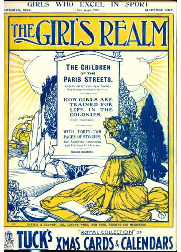 The Girl's Realm - 3 revistas em 1 volume - October / November / December - 1908