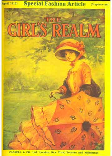 The Girl's Realm - 3 revistas em 1 volume - April / May / June - 1910