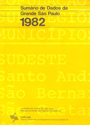Sumário de Dados da Grande São Paulo - 1982