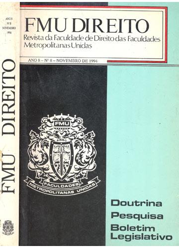 FMU - Direito - Ano 8 Nº8