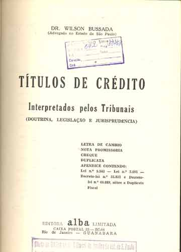 Títulos de Crédito - Interpretados Pelos Tribunais