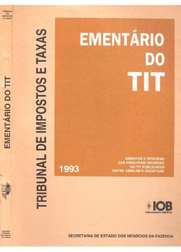 Ementário do TIT - 1993