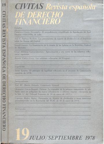Civitas - Revista Española de Derecho Financeiro - Nº. 19