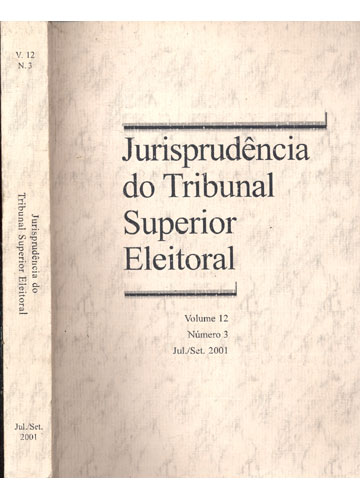 Jurisprudência do Tribunal Superior Eleitoral - Volume 12- Número 3