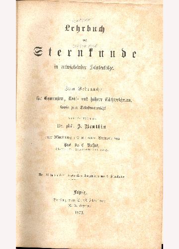 Lehrbuch Der Sternkunde