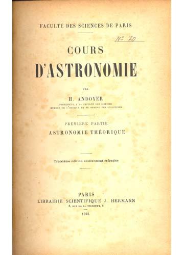 Astronomie - Cours D'Astronomie