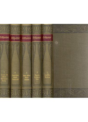 Grillparzer Werke - 5 Volumes