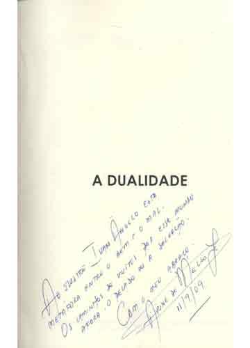 A Dualidade - Com Dedicatória do Autor
