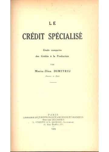 Le Crédit Spécialisé