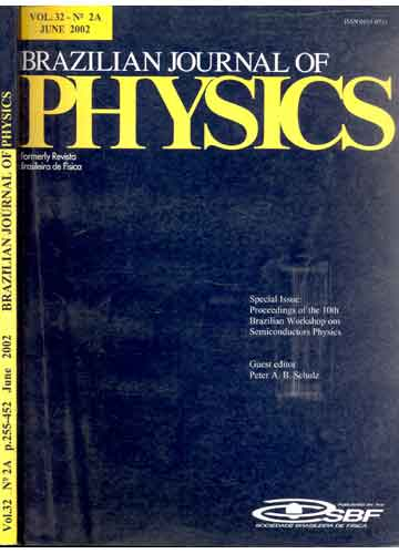 Brazilian Journal of Physics - Volume 32 - Nº 2A - June 2002