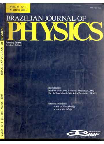 Brazilian Journal of Physics - Volume 33 - Nº 1 - March 2003