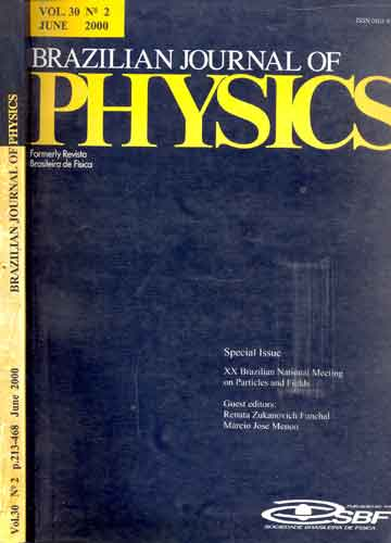 Brazilian Journal of Physics - Volume 30 - Nº 2 - June 2000