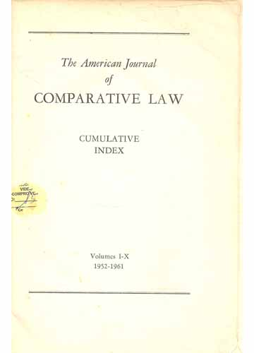 The Amercian Journal of Comparative Law