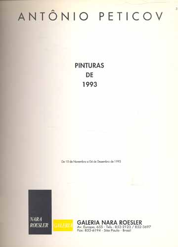 Pinturas de 1993 - Com Transparência