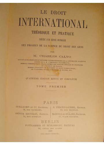 Le Droit International - 5 Volumes
