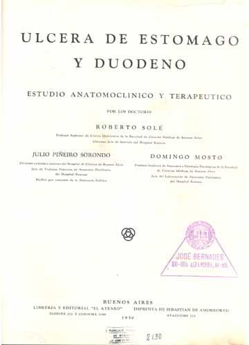Ulcera de Estomago y Duodeno
