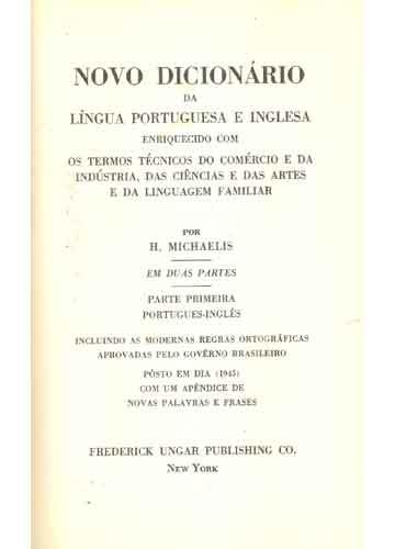Novo Dicionário da Língua Portuguesa e Inglesa